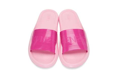 Hot Pink Designer Sandals - These KENZO Slip-Ons Lend a Stylish Edge to Summer Beach Ensembles