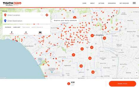 Interactive Traffic Maps - This Interactive Map Helps Drivers Avoid LA's Most Dangerous Roads
