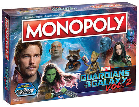 Anti-Hero Board Games - The Guardians of the Galaxy 2-Themed Monopoly Immerses Players in Both Films