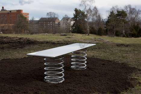 Experimental Public Benches - A Group of Architects Designed 'Superbenches' for a Stockholm Park