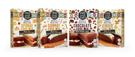 Free-From Cake Mixes - Free & Easy's Healthy Cake Mixes Exclude Gluten, Refined Sugar and Dairy