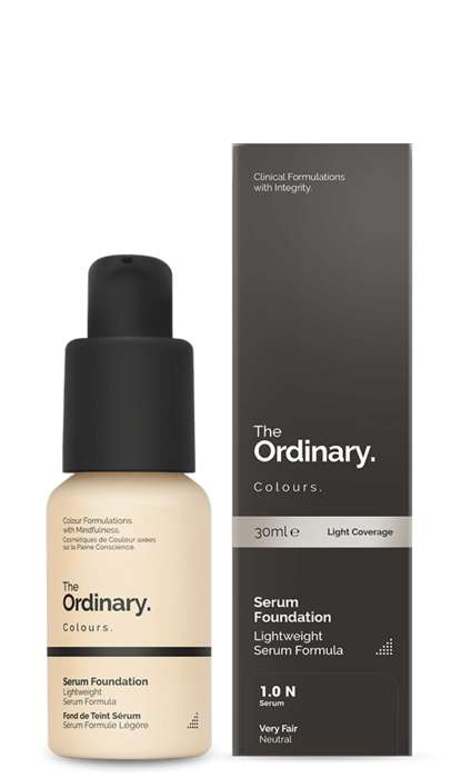 Hybrid Cosmetic Serums - The Ordinary's Serum Foundation Nourishes Skin and Provides Light Coverage