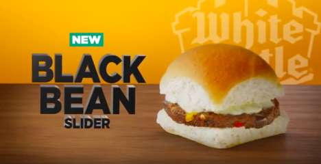 Meatless Bean Sliders - The Newest White Castle Slider Has a Black Bean Patty from Dr. Praeger's