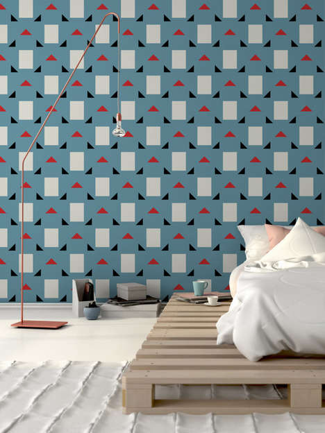 Modernist Mid-Century Wallpapers - 'Jupiter 10' Made a Collection of Boldly Patterned Wall Coverings