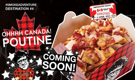 Multiculturalism-Inspired Poutines - These Smokes Poutinerie Products Explore Global Flavor