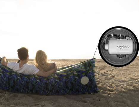 Self-Inflating Lounge Seats - The 'Coolado' Lounge Bag Inflates in Seconds for Instant Seating