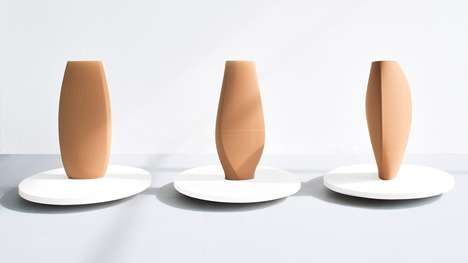 3D-Printed Clay Vases - Designer Olivier van Herpt Makes Unique Clay Vase Designs
