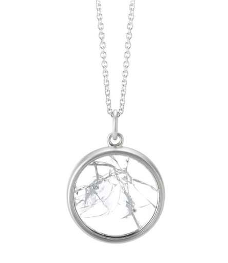 Symbolic Feminist Necklaces - The Shattered Glass Ceiling Necklace Symbolizes Female Empowerment
