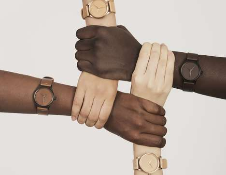 Skin Tone-Matching Timepieces - The 'In One's Skin' Timepiece Watch Collection is Philanthropic