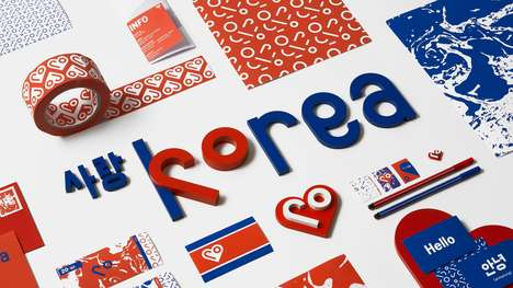 Inclusive National Rebranding Campaigns - Snask has Designed a National Rebrand for North Korea