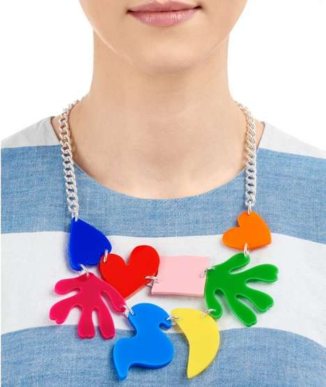 Abstract Art Jewelry - This Acrylic Necklace by Tatty Devine Boasts Technicolored Charms