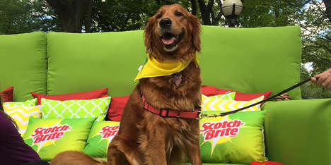 Promotional Pet Couches - Scotch-Brite Showed Off its Lint Rollers with the #WorthTheMess Campaign