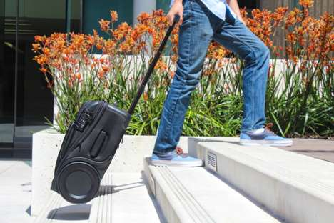 Urban Travel Suitcases - The 'G-RO' Carry-On Suitcase Luggage is Outfitted with Rugged Wheels