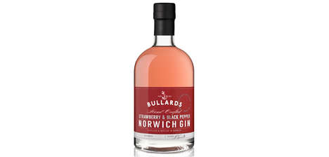 Peppery Strawberry Spirits - Bullards Spirits' Flavored Gin Boasts Notes of Black Pepper and Berry