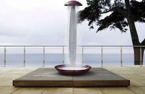 Outdoor Patio Rain Showers - The 'Punta e Basta' Patio Shower Creates a Rainstorm on Your Deck