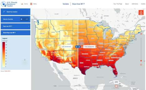 Interactive Climate Maps - Climate Explorer Shows How Global Warming Will Affect Different Cities