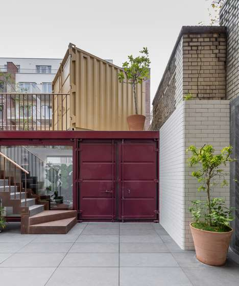 Repurposed Garden Offices - Architect Created Industrial Garden Offices from Shipping Containers