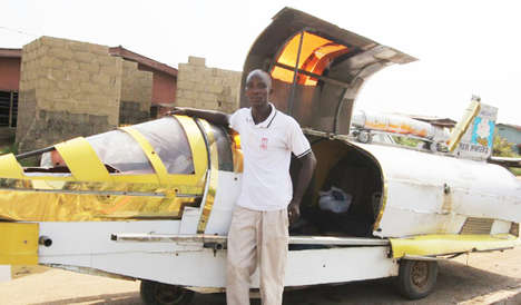 Aero-Amphibious Vehicle Prototypes - Made From Garbage, This Jet Car Can Travel on Land and Water