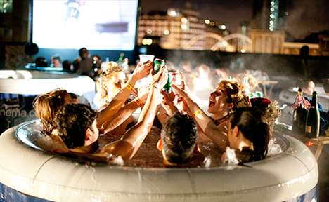 Hot Tub Cinemas - This Unique Cinema Hosts Outdoor Movie Screenings in Hot Tubs