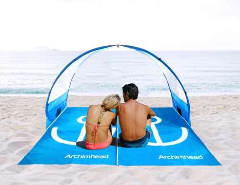 Multifunctional Beach Equipment - 'Archimhead' Ultimate Combo Towel and Beach Shelters are Versatile