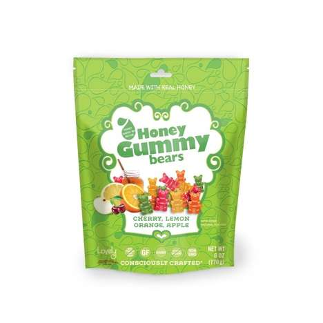 Honey-Based Gummy Bears - The Lovely Candy Company's Healthy Gummy Bears are Rich in Vitamins
