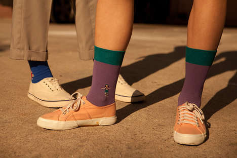 Hollywood-Centered Sock Editorials - This Jimmy Lion Collection Was Spotlighted in a Retro Editorial