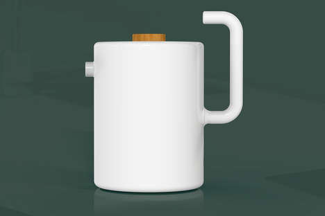 Electric Japanese Ceramic Kettles - The 'Albus' Electric Kettles Feature a Magnetic Power Adapter
