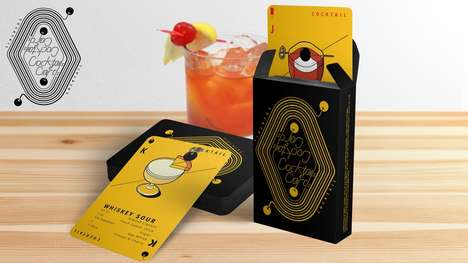 Cocktail Playing Cards - These Unique Cards Feature Drink Recipes and Beautiful Illustrations