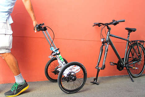 Bike Trolley Attachments - TReGo Turns Your Bike Into a Cart to Carry Heavy Items