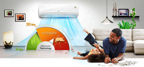 Mosquito-Repelling Air Conditioners - LG's 'Mosquito Away 2HP' Helps Keep Bugs at Bay
