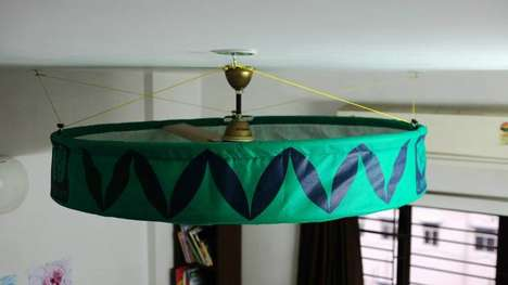 DIY Ceiling Fan Purifiers - Lifetree's Lily Air Purifier Can Be Affixed to an Ordinary Ceiling Fan