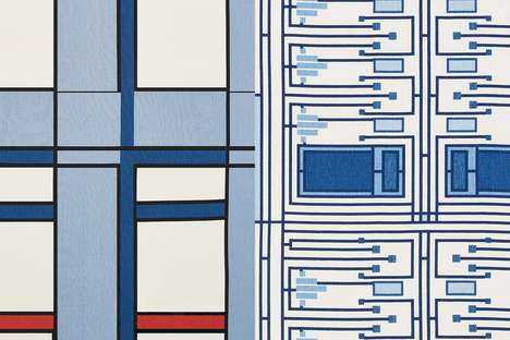 Architectural Textile Designs - Schumacher is Re-Issuing 40 Frank Lloyd Wright Graphics as Fabrics
