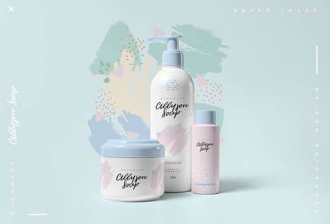 Feminine Cosmetics Packaging - This Branding Concept Uses Soft Curves and Feminine Colors