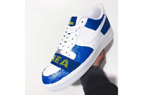 Shopping Bag-Inspired Sneakers - These Custom IKEA Sneakers Were Created by FRE Customs