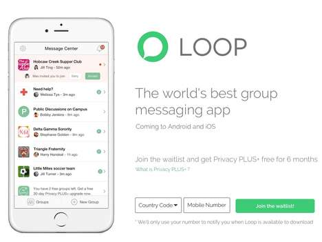Anti-Noise Group Chat Apps - The 'Loop' Group Messaging App Enables Better Control Over Chats