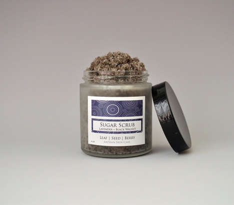 Walnut-Based Exfoliating Scrubs - LeafSeedBerry's Black Walnut and Lavender Scrub Leaves Skin Smooth