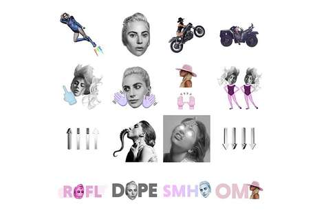 Unconventional Popstar Emojis - Lady Gaga Fans are Now Able to Use GAGAmoji to Express Themselves