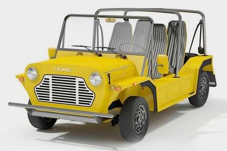 Repurposed Military Beach Buggies - The E-Moke Electric Beach Buggy is for Light Off-Road Use