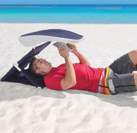 Tablet-Friendly Beach Sunshades - This Beach Reading Sunshade Protects From UV Rays While You Relax