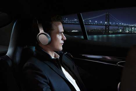 Designer Collaboration Headphones - The 'SPACE ONE' Around Ear Headphones Sport ANC Technology