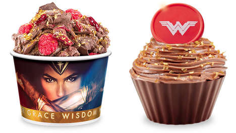 Superhero Ice Cream Flavors - The Cold Stone Dark Chocolate Triple Berry Celebrates Wonder Woman