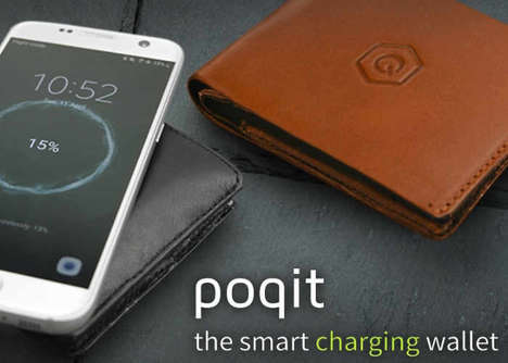 Smartphone-Charging Wallets - The 'POQIT' Smart Charging Wallet Boasts Several Connected Features