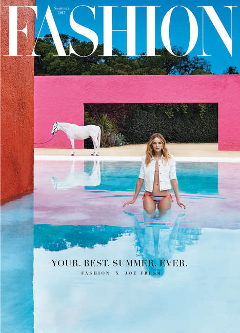 Peel-Off Fashion Covers - The Fashion Magazine Summer 2017 Issue Features a Peel-Off Joe Fresh Cover