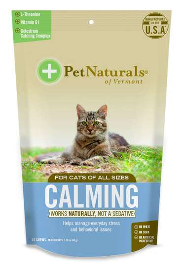 Calming Pet Treats - Pet Naturals' Soothing Treats for Cats and Dogs Contain Vitamins & L-Theanine