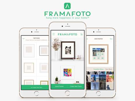 Social Photo Framing Apps - The 'Framafoto' Custom Framing App Creates Artwork with Social Photos