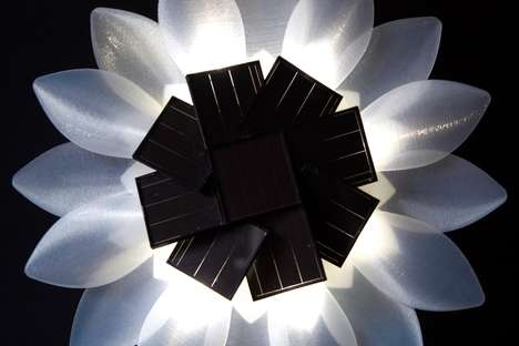 Artistic Floral LED Lights - The Solar Flower Light Functions as Artistic and Eco-Friendly Decor