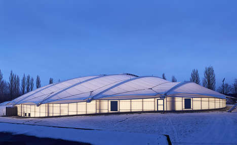 Tortoise-Like Cycling Arenas - Thorvald Ellegaard Arena Has a Roof Like a Reptilian Shell