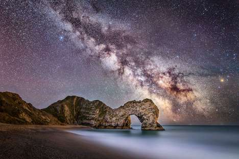 Stunning Galactic Photography - Stephen Banks Captures Dorset Landmarks Against the Milky Way