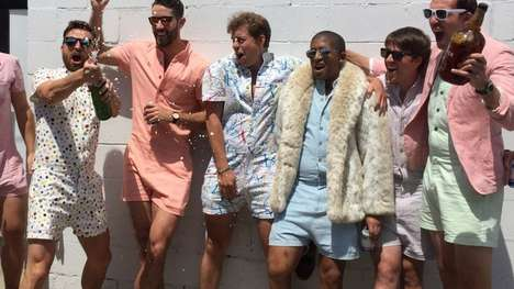 Modern Menswear Rompers - The 'RompHim' is a Fashion Inclusive Male Romper