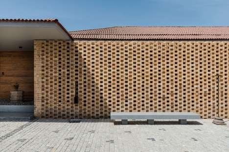 Tropical Brick Houses - 'Tropical House Urveel' Uses Creative Bricklaying for Airflow